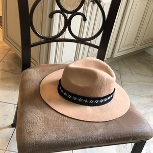 Tan and Black Hat